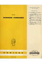 Cahiers ORSTOM sér. Sci. hum., vol. 05, n° 3 - Temps et Développement: Quatre sociétés en Côte d'Ivoire