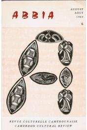 ABBIA 06 - L'Histoire des lamidats de Tchamba et Tibati / Un artiste camerounais peu connu: Ibrahim Njoya, etc.