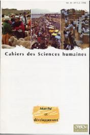 Cahiers ORSTOM sér. Sci. hum., vol. 30, n° 1-2, AUBERTIN Catherine, COGNEAU Denis (éditeurs scientifiques) - Marché et développement
