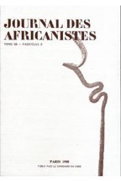 Journal des Africanistes - Tome 58 - fasc. 2