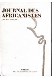 Journal des Africanistes - Tome 61 - fasc. 2 - 1991