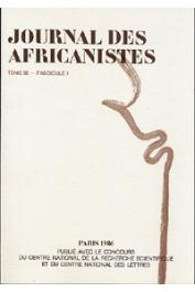 Journal des Africanistes - Tome 56 - fasc. 1