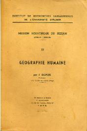 DESPOIS Jean - Mission scientifique du Fezzân. Tome III : Géographie humaine