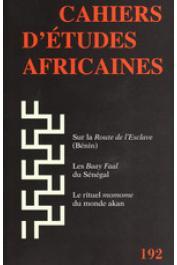 Cahiers d'études africaines - 192 - Varia