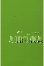 Journal des Africanistes - Tome 77 - fasc. 1 - Varia