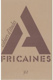 Cahiers d'études africaines - 092