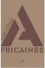 Cahiers d'études africaines - 098