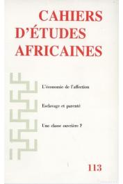 Cahiers d'études africaines - 113