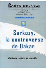 Cours Nouveau - 1/2, NDIAYE Malick - Sarkozy, la controverse de Dakar. Contexte, enjeux et non-dits