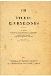 Etudes Eburnéennes - 08, DUPIRE Marguerite, BERNUS Edmond - Planteurs autochtones et étrangers en Basse-Côte d'Ivoire orientale / Kong et sa région