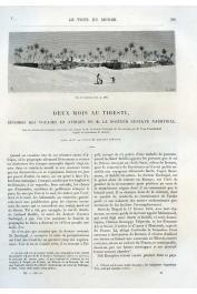 NACHTIGAL Gustave - Deux mois au Tibesti. Episodes des voyages en Afrique de M. le docteur Gustave Nachtigal