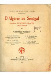D'Algérie au Sénégal. Mission Augiéras-Draper, 1927-1928 - Volume de textes
