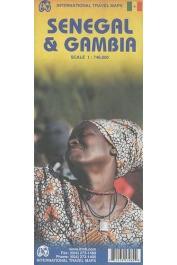International Travel Maps - Senegal & Gambia