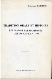 Etudes Nigériennes - 39, KARIMOU Mahamane - Les Mawri zarmaphones
