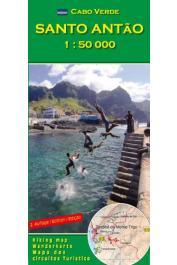 Cabo Verde - Santo Antão carte au  1:50.000 e - 2eme édition