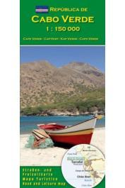 Cabo Verde, carte routière et touristique au  1:150.000 e