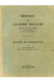 FRANCOIS Edmond - Plantes de Madagascar