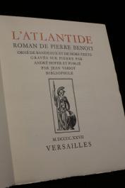 BENOIT Pierre, VARIOT Jean, bibliophile (publié par) - L'Atlantide