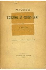 TRILLES Henri R.P. - Proverbes, légendes et contes fang (tiré à part Attinger 1905)