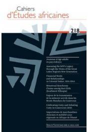 Cahiers d'études africaines - 218 - Varia