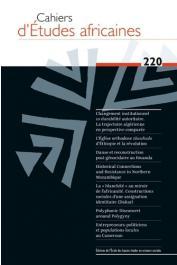 Cahiers d'études africaines - 220 - Varia