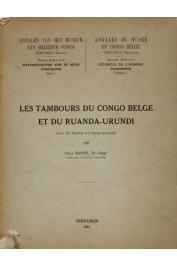 BOONE Olga - Les tambours du Congo Belge et du Ruanda-Urundi