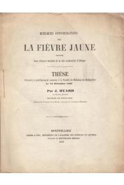 HUARD J. - Quelques considérations sur la fièvre jaune observée dans diverses localités de la côte occidentale d'Afrique