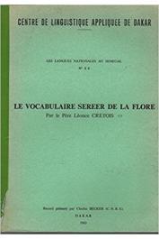 CRETOIS Léonce, Père - Le vocabulaire Sereer de la flore