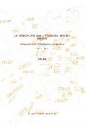 Etudes Nigériennes - 47, PONCET Yveline (sous la direction de) - La région d'In Gall - Tegidda n Tesemt (Niger). Programme archéologique d'urgence (1977-81) -  Atlas