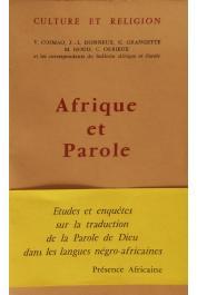 COSMAO Vincent, DONNEUX Jean-Louis, GRANGETTE G. HOUIS Maurice et Alia - Afrique et parole : Etudes et enquêtes sur la traduction de la parole de Dieu dans les langues négro-africaines