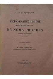 FOUCAULD Charles de - Dictionnaire abrégé Touareg-Français de noms propres (dialecte de l'Ahaggar)