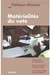 POLITIQUE AFRICAINE n° 144 - Matérialités du vote