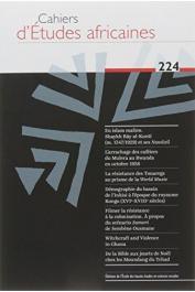 Cahiers d'études africaines - 224 - Varia