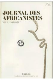 Journal des Africanistes - Tome 64 - fasc. 2 - 1994