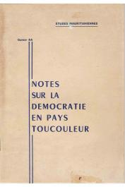 BA Oumar - Note sur la démocratie en pays Toucouleur