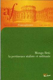 Interculturel Francophonies - 13 - Mongo Beti : la pertinence réaliste et militante.