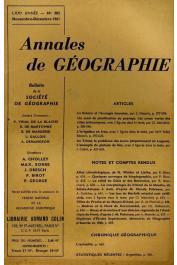 Annales de Géographie - Bulletin de la société de géographie  - 382, CABOT Jean - Au Tchad. Le problème des Koros (département du Logone). L'exemple du plateau de Sar