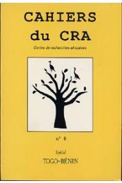 Cahiers du CRA - 8 / Spécial Togo-Bénin