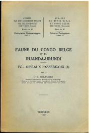 SCHOUTEDEN Henri Dr. - Faune du congo Belge et du Ruanda-Urundi.  IV - Oiseaux Passereaux (1)