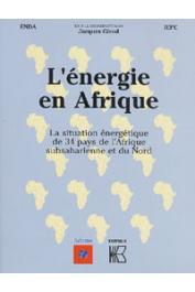 GIROD Jacques, (coordinateur), ENDA, IEPE - L'énergie en Afrique. La situation énergétique de 34 pays de l'Afrique subsaharienne et du Nord