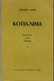 BOUBOU HAMA - Kotia-Nima. Rencontre avec l'Europe (couverture tome 1)
