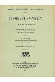 HOUDAS O., BENOIST E., (éditeurs) - Tedzkiret en Nisian fi Akhbar Molouk es Soudan; suivi de l'histoire de Sokoto. Reproduction photographique de l'édition de 1913-14