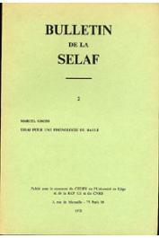 GROSS Marcel - Essai pour une phonologie du baule (Côte d'Ivoire)