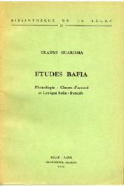 GUARISMA Gladys - Etudes bafia. Phonologie. Classes d'accord. Lexique bafia-français