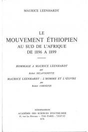 LEENHARDT Maurice - Le mouvement éthiopien au Sud de l'Afrique de 1896 à 1899