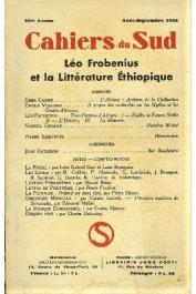 Cahiers du Sud 208 - Léo Frobenius et la littérature éthiopique