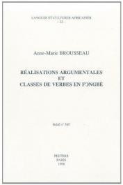 BROUSSEAU Anne-Marie - Réalisations argumentales et classes de verbes en fongbé