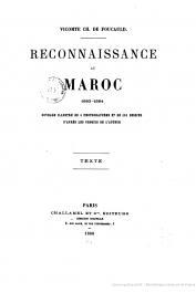 FOUCAULD Charles de (Vicomte) - Reconnaissance au Maroc 1883-1884