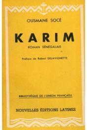 SOCE DIOP Ousmane - Karim. Roman sénégalais, Suivi de Contes et légendes d'Afrique Noire