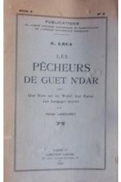 LECA Nicolas, LABOURET Henri - Les pêcheurs de Guet N'Dar, avec une note sur les Wolof, leur parler, les langages secrets (par Henri Labouret) (Edition tirée à part)